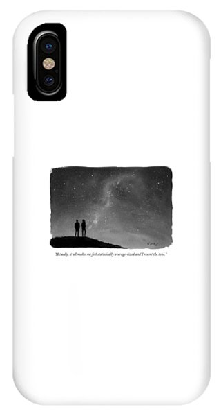 It All Makes Me Feel Statistically Average IPhone Case