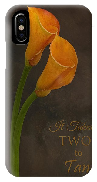 It Takes Two To Tango With Message IPhone Case
