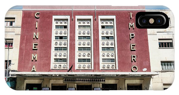 Italian Colonial Art Deco Old Cinema Building In Asmara Eritrea IPhone Case