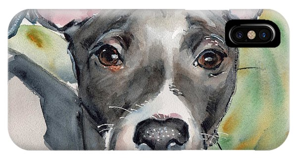 iPhone Case - Italian Greyhound Watercolor by Maria Reichert