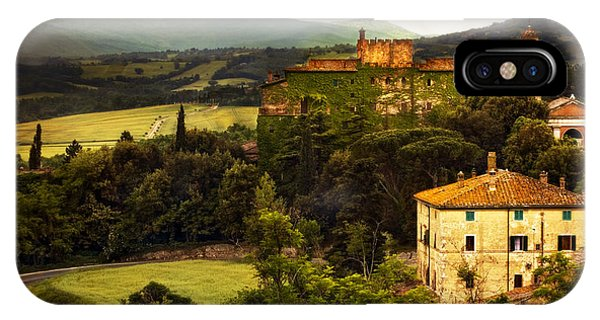 Italian Castle And Landscape IPhone Case