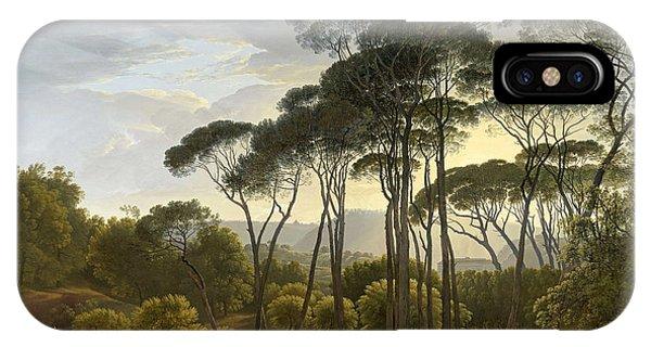 Umbrella Pine iPhone Case - Italian Landscape With Umbrella Pines  by Hendrik Voogd