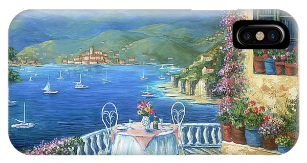 Table For Two iPhone Case - Italian Lunch On The Terrace by Marilyn Dunlap