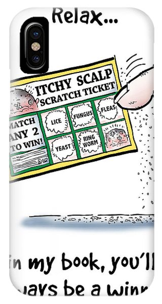 Itchy Scalp Scratch Ticket IPhone Case