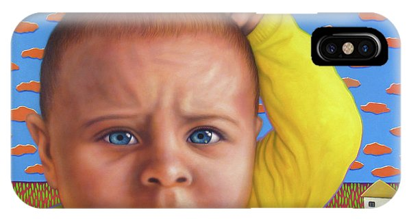 Baby Blue iPhone Case - It's A Confusing World by James W Johnson
