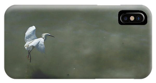 Egrets iPhone Case - It's All In The Takeoff by Laurie Search