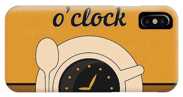 Witty iPhone Case - It's Coffee O'clock by Naxart Studio