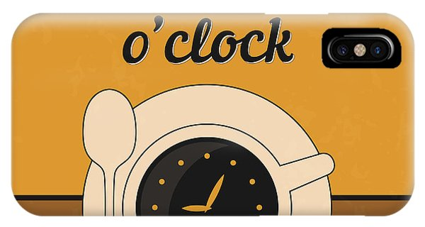 Laugh iPhone Case - It's Coffee O'clock by Naxart Studio