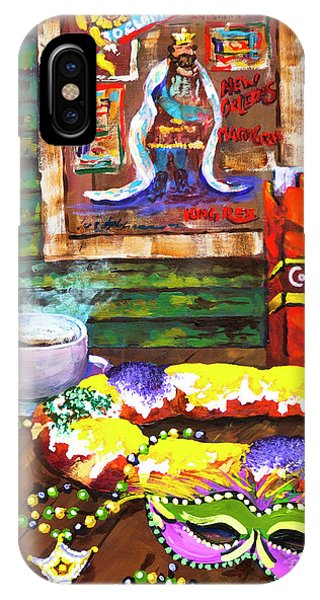 It's Mardi Gras Time IPhone Case