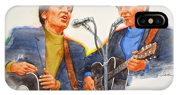 IPhone Case featuring the painting Its Rock And Roll 4  - Everly Brothers by Cliff Spohn