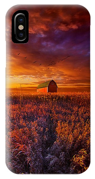 Fall Flowers iPhone Case - It's The Fire And The Wings That Fly Us Home by Phil Koch