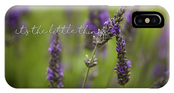 Little Things iPhone Case - It's The Little Things by Bonnie Bruno
