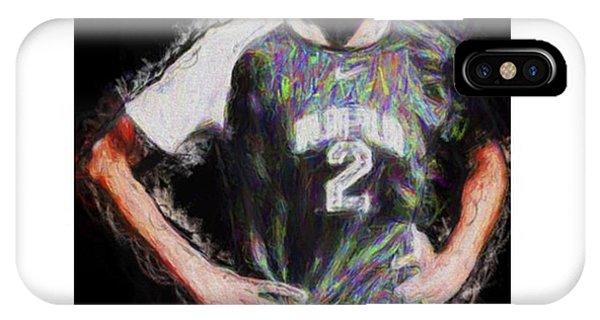 Celebrity iPhone Case - @iupui #soccer #futbol #painting by David Haskett II