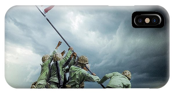Iwo Jima 2nd Flag Raising Restored Phone Case by Brent Shavnore