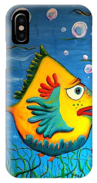 IPhone Case featuring the painting Izzy On The Itch by Vickie Scarlett-Fisher