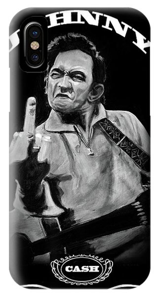 Johnny Cash iPhone Case - J Cash by Charles  Bickel