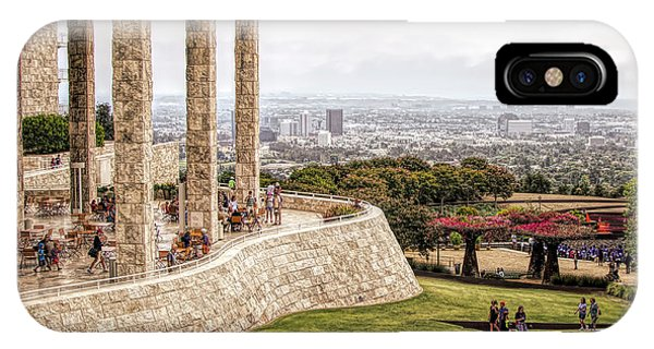 J Paul Getty iPhone Case - J. Paul Getty Museum Los Angeles Landscape Architecture  by Chuck Kuhn