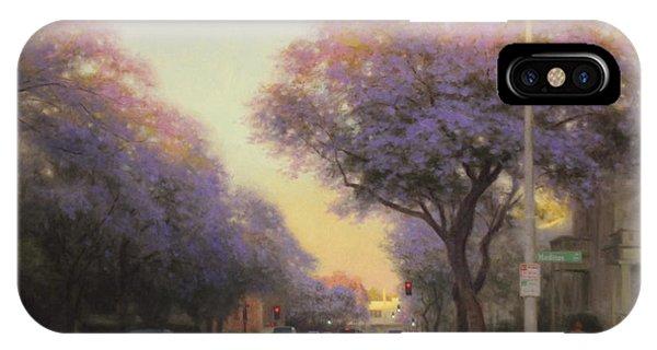 iPhone Case - Jacaranda Evening Light by Ezra Suko