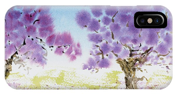 Jacaranda Trees Blooming In Buenos Aires, Argentina IPhone Case