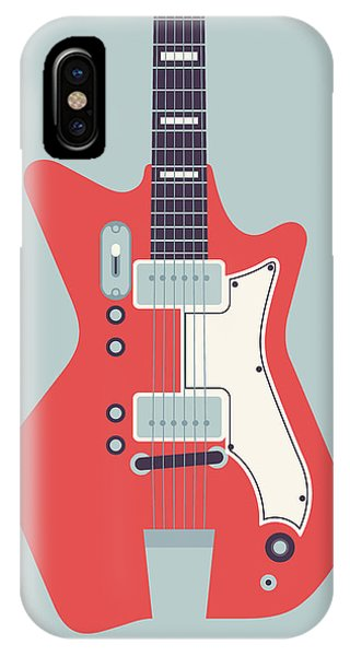 Airline iPhone Case - 60's Electric Guitar - Grey by Ivan Krpan