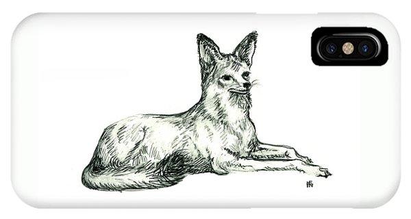 Jackal Sketch IPhone Case