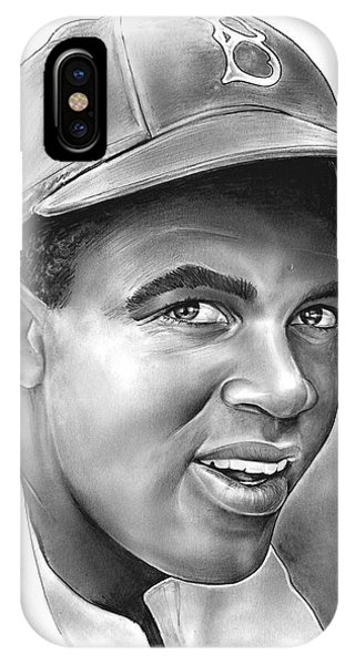 African-american iPhone Case - Jackie Robinson by Greg Joens