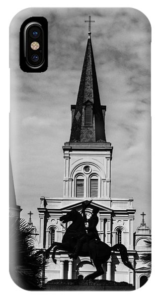 Jackson Square - Monochrome IPhone Case