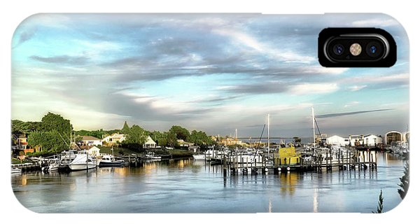 Hampton Bays Marina IPhone Case
