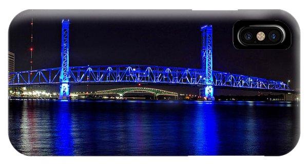 Jacksonville's Blue Bridge IPhone Case