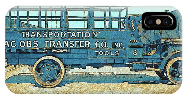 Jacobs Transfer Company 1917 White Truck IPhone Case