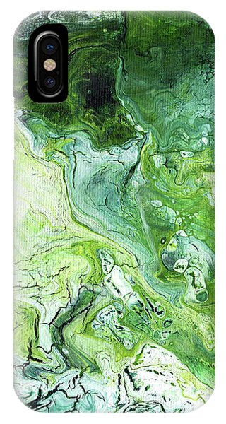 Jade- Abstract Art By Linda Woods IPhone Case