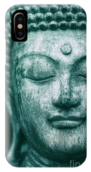 Teal iPhone Case - Jade Buddha by Tim Gainey