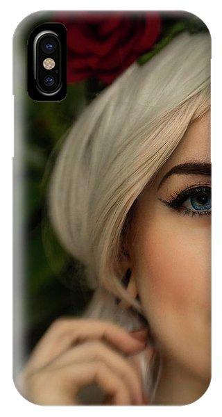 Jade Close Crop IPhone Case