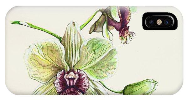 Jade Dendrobium IPhone Case