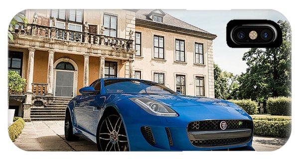 Jaguar F-type - Blue - Villa IPhone Case