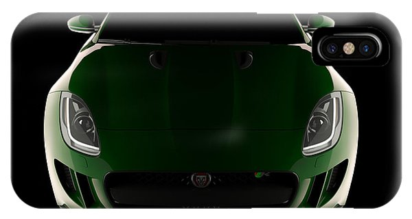 Jaguar F-type - Front View IPhone Case