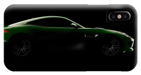 Jaguar F-type - Side View IPhone Case