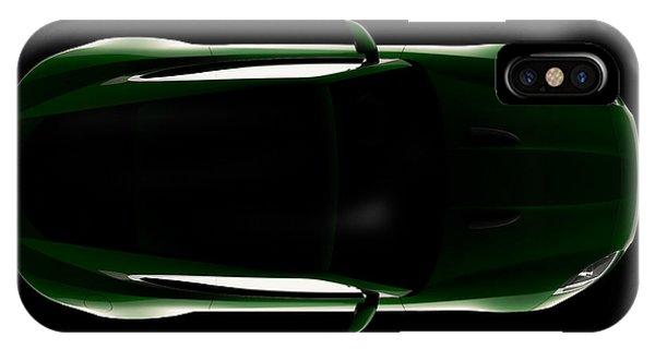 Jaguar F-type - Top View IPhone Case