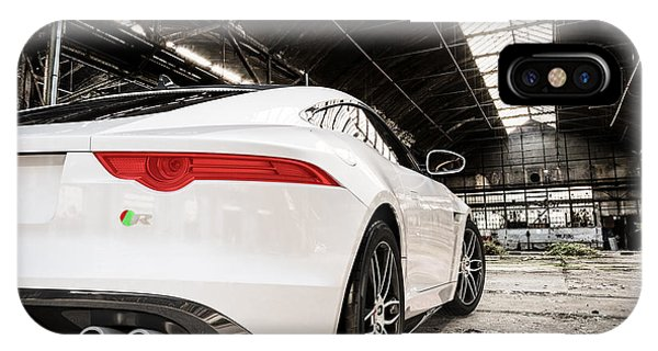 Jaguar F-type - White - Rear Close-up IPhone Case