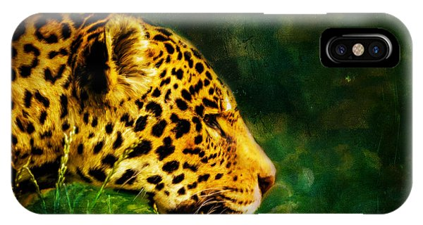 Jaguar In The Grass IPhone Case