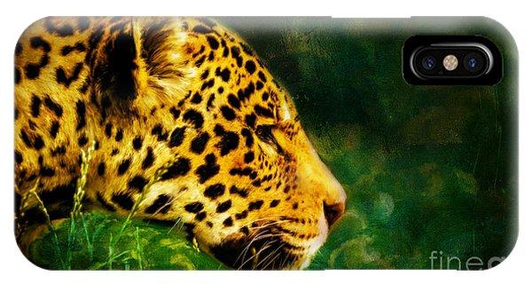 Jaguar In The Grass IPhone Case