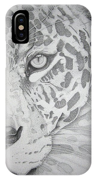 Jaguar Pointillism IPhone Case