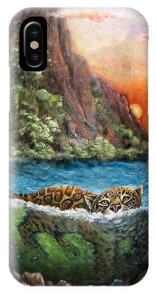 Jaguar Sunset  IPhone Case