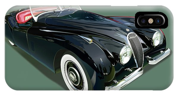 Jaguar Xk 120 Illustration IPhone Case