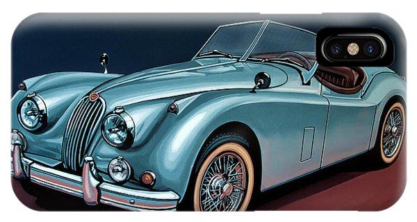 Oldtimer iPhone Case - Jaguar Xk140 1954 Painting by Paul Meijering
