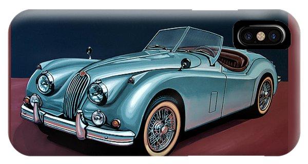 Swallow iPhone Case - Jaguar Xk140 1954 Painting by Paul Meijering