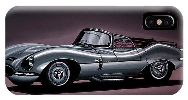 Oldtimer iPhone Case - Jaguar Xkss 1957 Painting by Paul Meijering