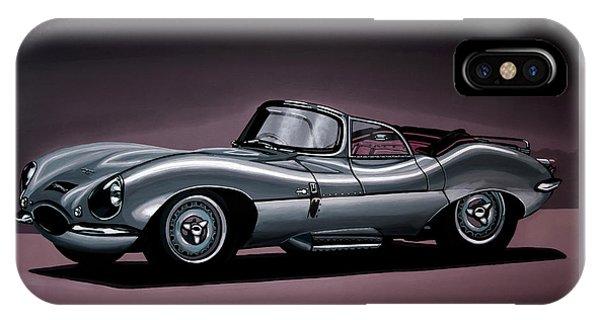 Swallow iPhone Case - Jaguar Xkss 1957 Painting by Paul Meijering