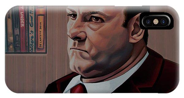 Alabama iPhone Case - James Gandolfini Painting by Paul Meijering