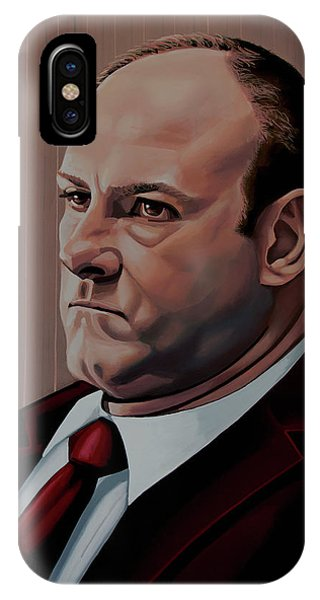 New Jersey iPhone Case - James Gandolfini Painting by Paul Meijering